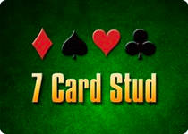 Seven card stud icon