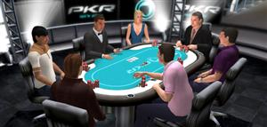 Screenshot of PKR Poker Table