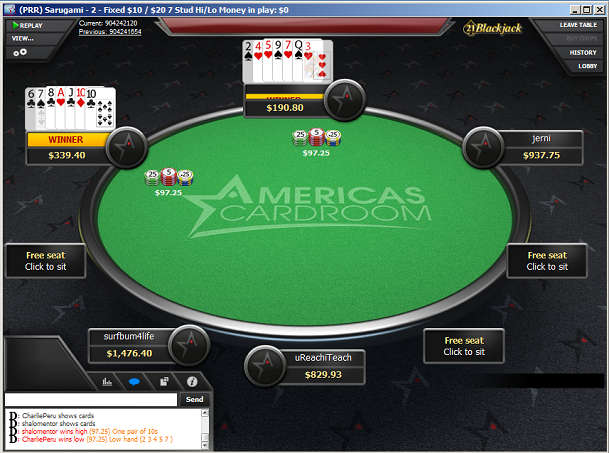 Americas Cardroom Stud/8 Table