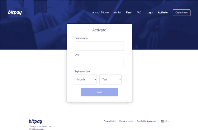 BitPay Card Activation