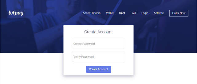 Creating a BitPay Cardholder Account