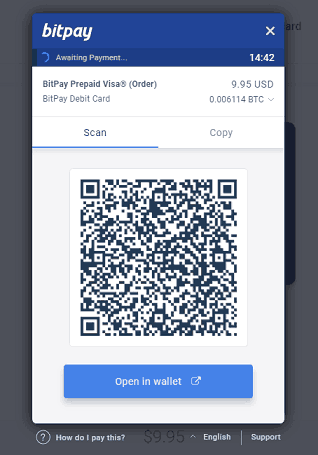 BitPay Card Invoice