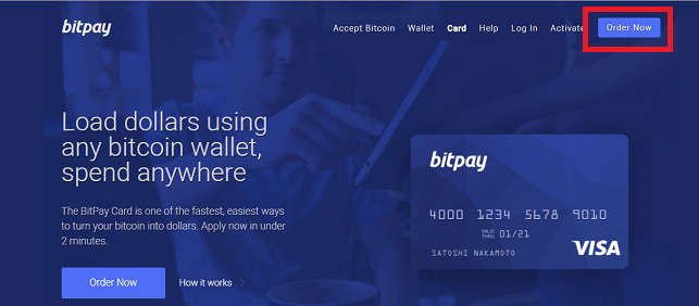BitPay Card Website