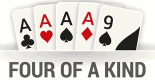 four of a kind or quads is the 2nd best hand in texas holdem