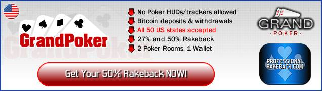 Grand Poker rakeback information banner