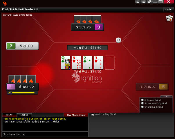 Ignition Poker LO8 Table