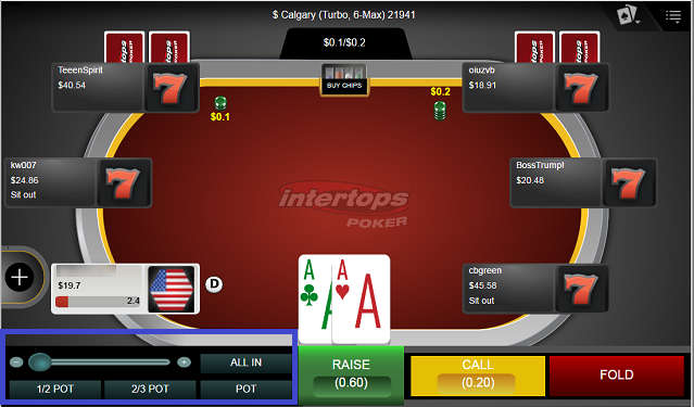 Intertops Instant Play Betting Controls