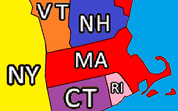 States Adjacent to Massachusetts