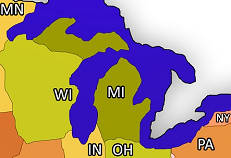 States Bordering Michigan
