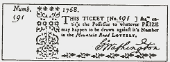 Lottery Ticket from the Mountain Road Lottery