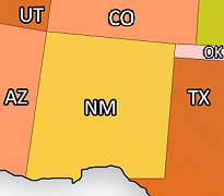 States that Border New Mexico
