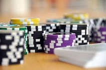 Poker Tournaments Chips and Cards