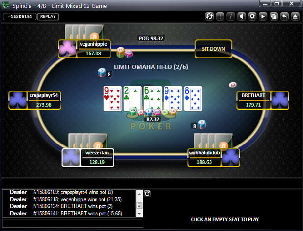 LO8 Round of 12-Game at SwCPoker