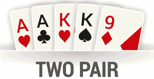 Two pair can be a sneaky winning hand!