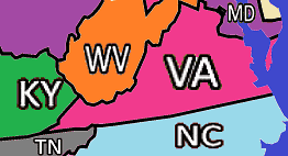 Virginia and Adjacent States