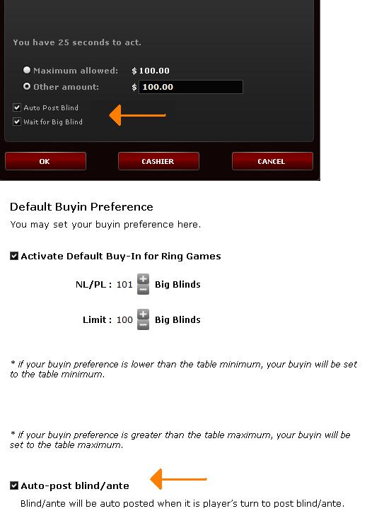 Bodog and Bovada get auto-post blinds!