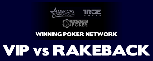 Winning Poker Network Rakeback vs VIP (Elite Benefits) Logo